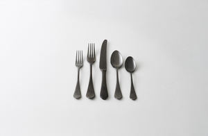 Dolcevita Black Pewter Flatware Set