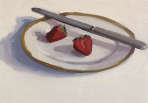 Strawberries with Butter Knife