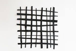 Large Black Open Grid