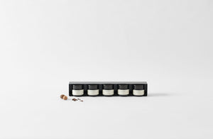MARCH Pantry Black Steel Spice Rack with Essential Baking Spices