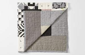 Thompson Street Studio Black and White Tile Queen Quilt
