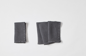 Washed Linen Charcoal Napkin