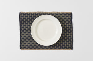Arcolaio Londra Black Fringed Placemat