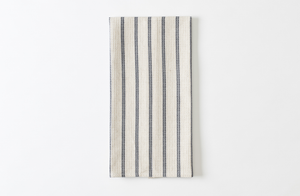 Black and Natural Stripe Waffle Dishtowel