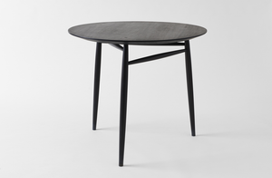 Sawkille Co. Ebonized Black Walnut Spindle Table