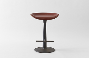 Josh Vogel for MARCH Cast Iron Stool with Leather Tractor Seat