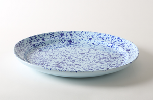 Blue on Blue Splatterware 20.75 Inch Platter