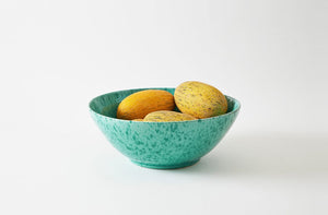 Green on Green Splatterware 18 Inch Serving Bowl