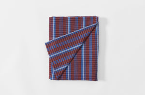Red and Blue Tartan Tablecloth