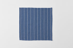 Navy and White Stripe Cotton Napkin