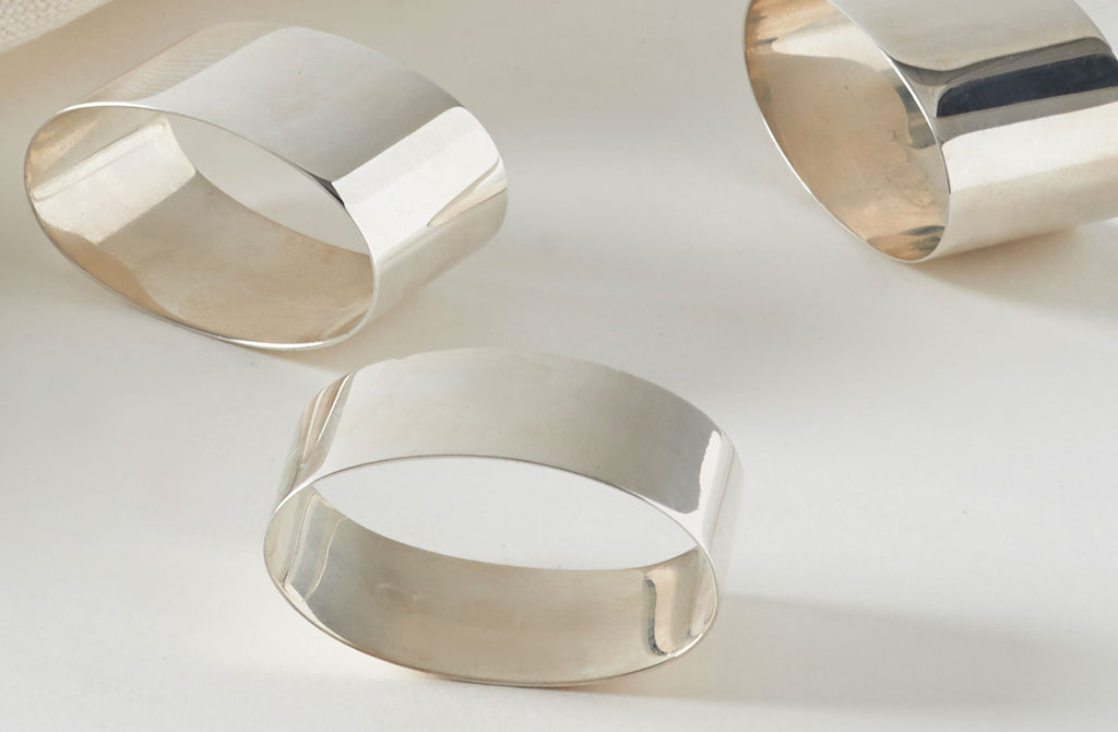 Sterling Silver Oval Napkin Ring March