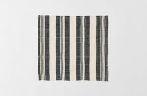 White and Black Wide Stripe Cotton Napkin