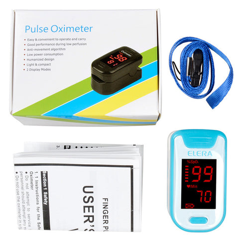 Image of Elera Finger Pulse Oximeter - Blood Saturation Oxygen Monitor