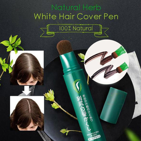 Image of Natural Herb White Hair Cover Pen