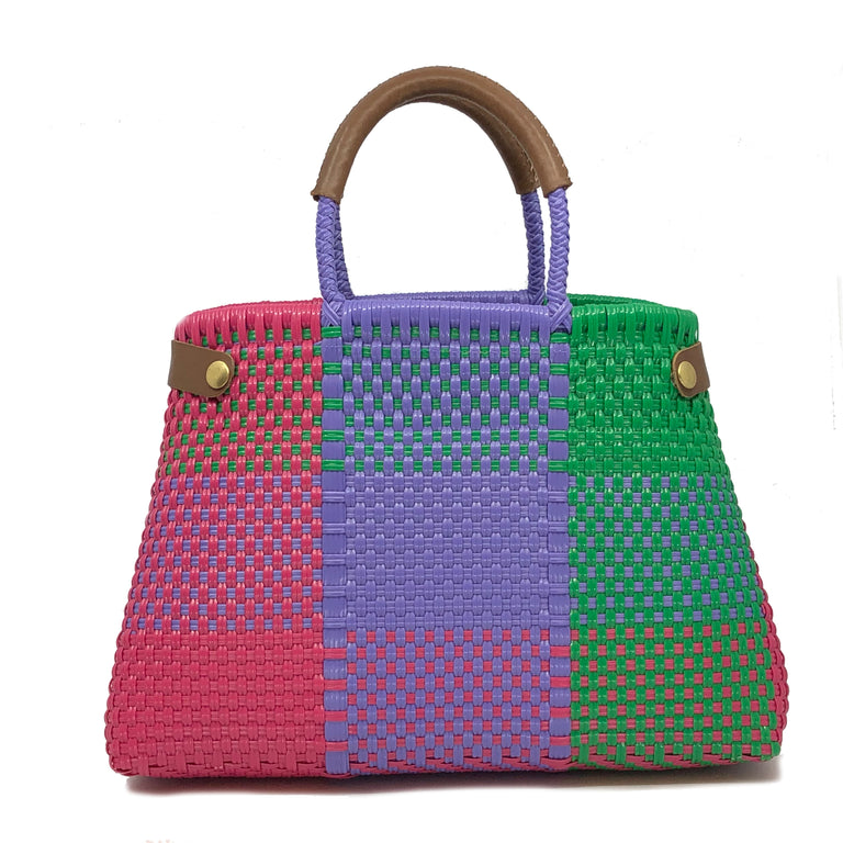 Quadratto Multicolore Cesto Bag
