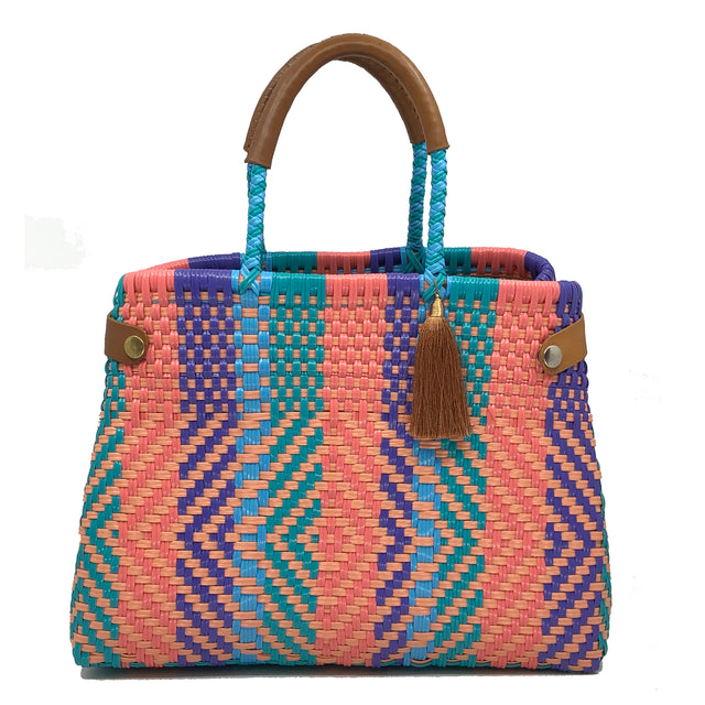 Rosa-Multicolore Cesto Bag