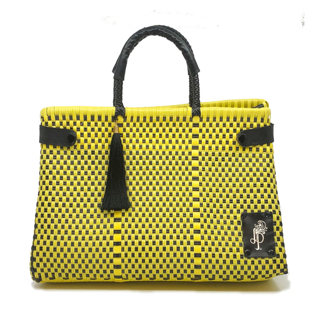 Amarillo-Nero Cesto Bag