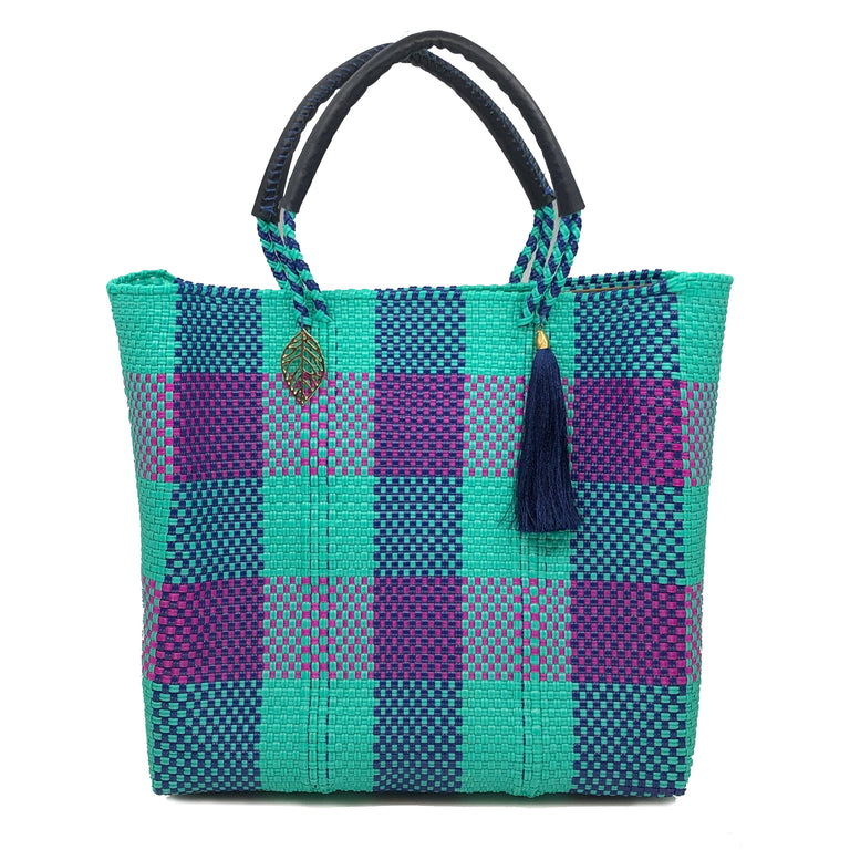 Turchese-Porpora Tote Bag