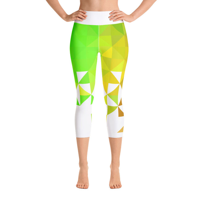Triangolo Verde Yoga Capri Leggings