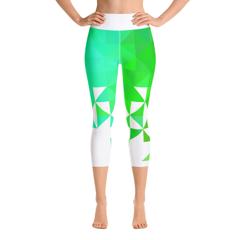 Triangolo Turchese Yoga Capri Leggings