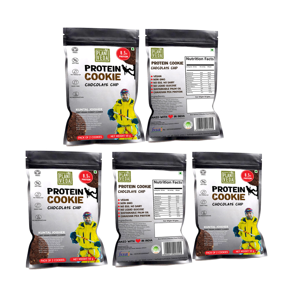 Nutriva Protein Cookies Chocolate Chip (10 Pieces)