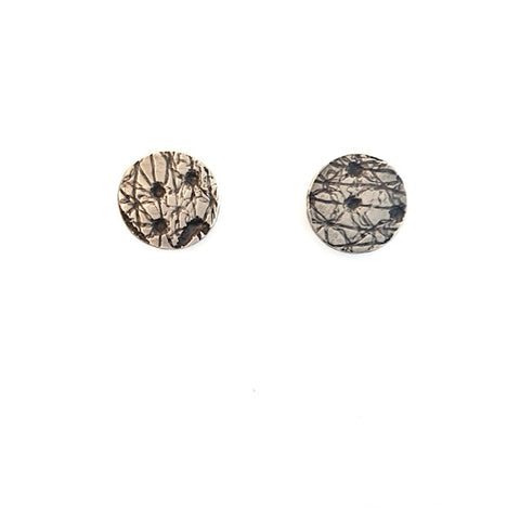 Lace Impression Studs - Medium Round