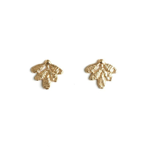 14k Yellow Gold Coraline Earrings