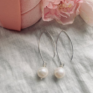 Sterling Silver and Freshwater Pearl Drop Earrings