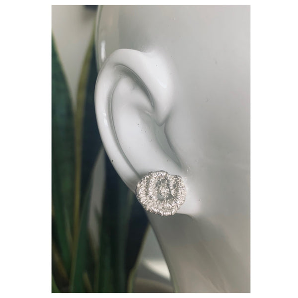 Rose Lace Stud Earrings