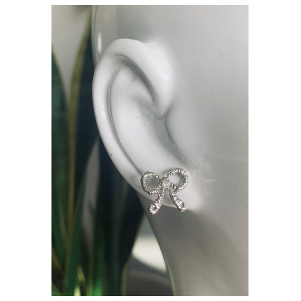 Bow Lace Stud Earrings