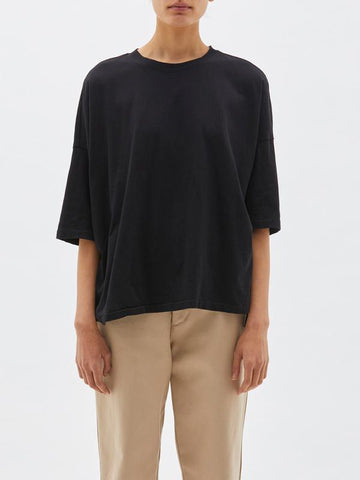 Slouch Side Step Tee, Black