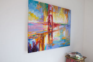 Golden Gate Bridge — Painting on canvas by Leon Devenice