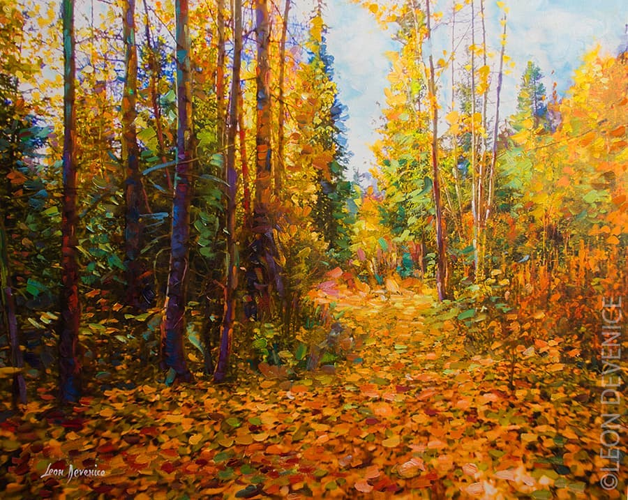 Romance of the Forest — oil painting on canvas by Leon Devenice
