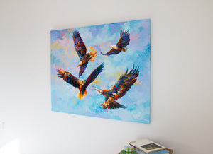 Where Eagles Dare — painting on canvas by Leon Devenice