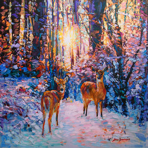 Deer painting, deer art