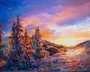 winter painting , winter art
