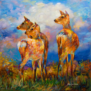 deer painting , deer artwork