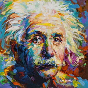 Albert Einstein — painting on canvas by Leon Devenice