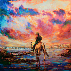 horse rider painting