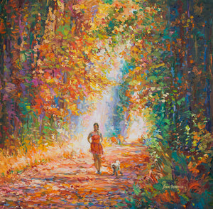 Finding a new path — oil painting on canvas by Leon Devenice