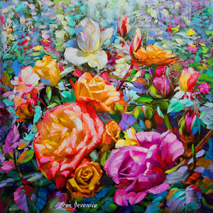 floral painting on canvas