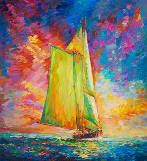 yacht painting,sailboat painting