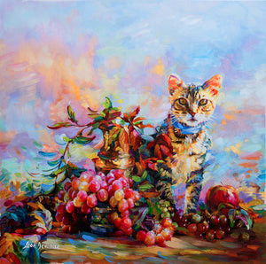 cat painting, cat art