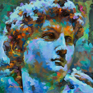 Michelangelo's David , portrait painting