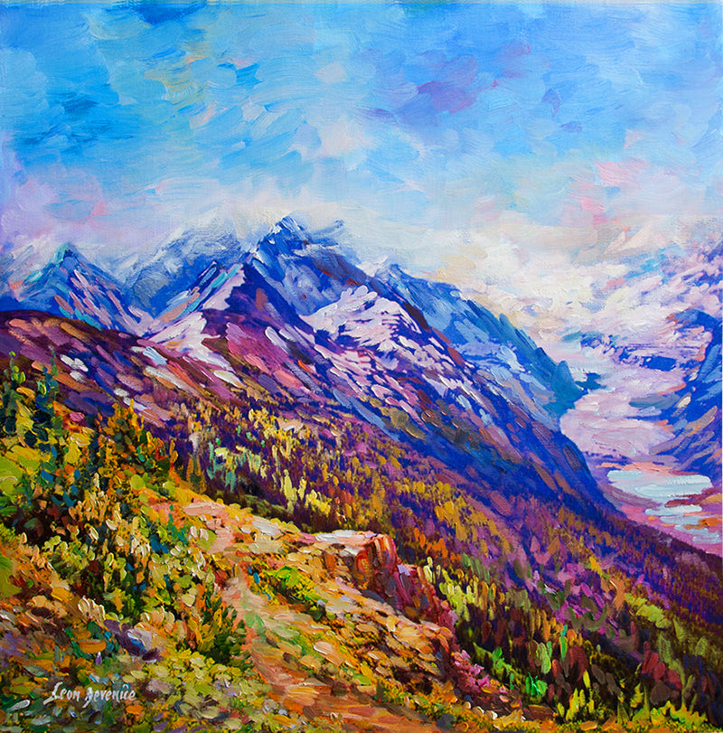 mountain paintings , mountain art,