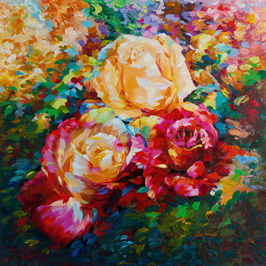 rose painting ,flower painting