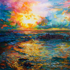 Sunrise painting , sunrise art