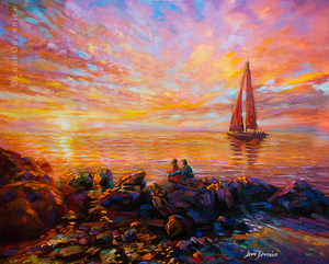 sunset painting , leon devenice