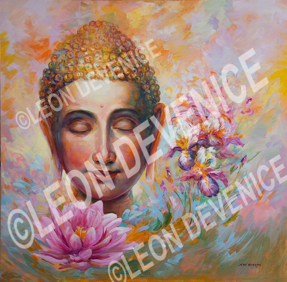 Buddha  — Oil Painting on Canvas by Leon Devenice