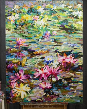 lily art, lily painting,